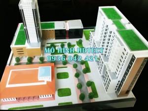 Mô hình đài truyền hình Vn,đại sứ quán Campuchia,chung cư Nam Thăng Long trưng bày tại Hội chợ hữu nghị Việt.Cam.Lào_Tổng cty 36