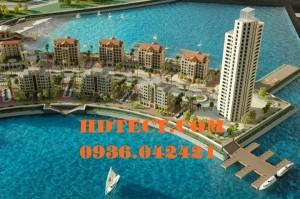 Mô hình quy hoạch dự án resort Dubai.