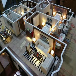 Mô hình dự án nội thất biệt thự resort Cát Bà – Hải Phòng