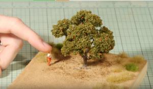 Cách làm mô hình cây ăn quả đơn giản trong mô hình kiến trúc tỷ lệ 1/25