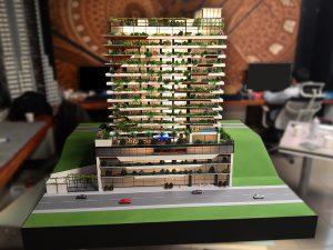 Mô hình tòa nhà Bayibay – Trưng bày tại Showroom đại sứ quán Pháp