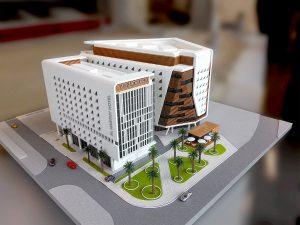 Mô hình trụ sở văn phòng concept 1/200